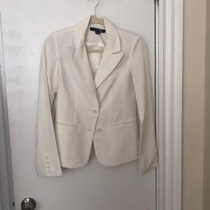 Forever 21! Never worn! White two button blazer